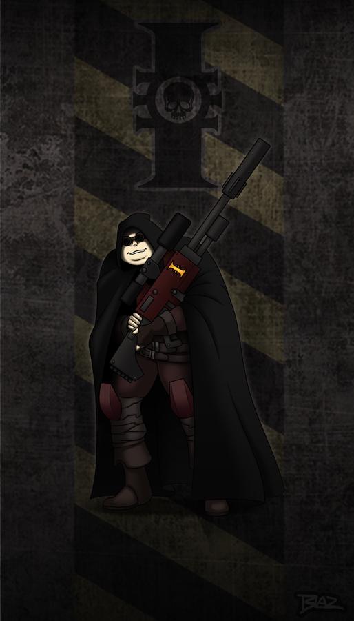 Dark Heresy: Grim the Sniper by Blazbaros on DeviantArt