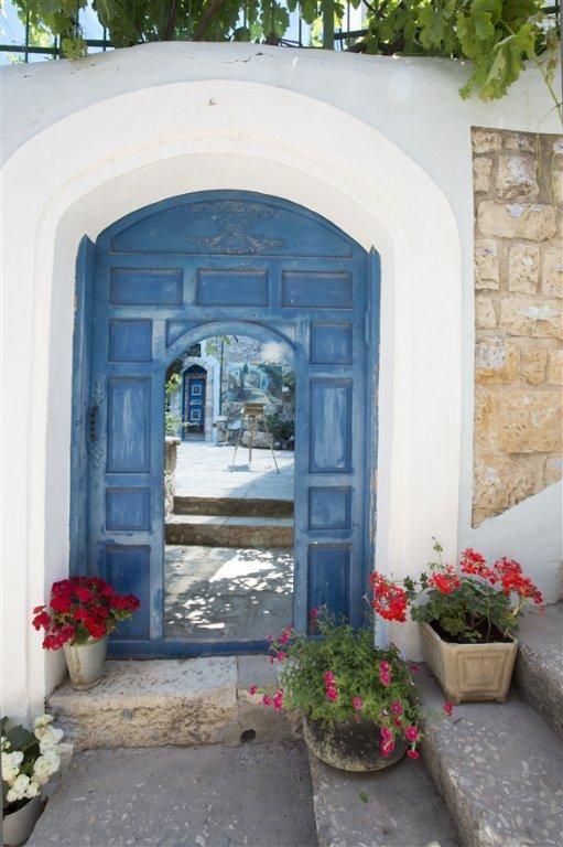 Typical decorated door in Safed, Israel ~ Itamar Grinberg