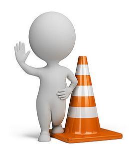 3d small people - traffic cone | Flickr: Intercambio de fotos | Casque de  chantier, Bonhomme blanc, Picto
