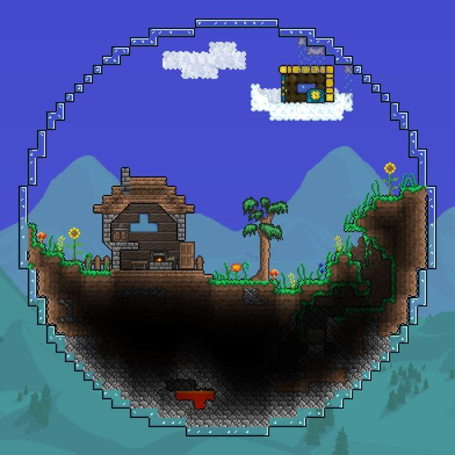 Mini Biome Spheres Terarria Terraria House Ideas