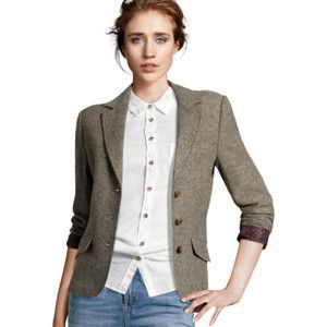 Gallery For > Womens Tweed Blazer With Elbow Patches