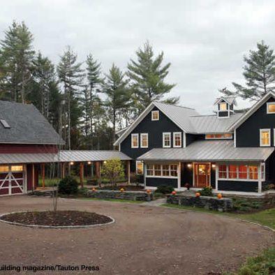 Saxon Hill Vernacular Barn House Design Modern Farmhouse