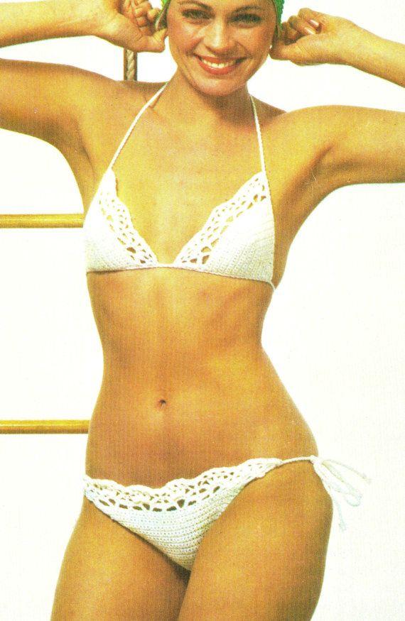 Vintage Crochet String BIKINI PDF Pattern Swim Bathing Suit ...