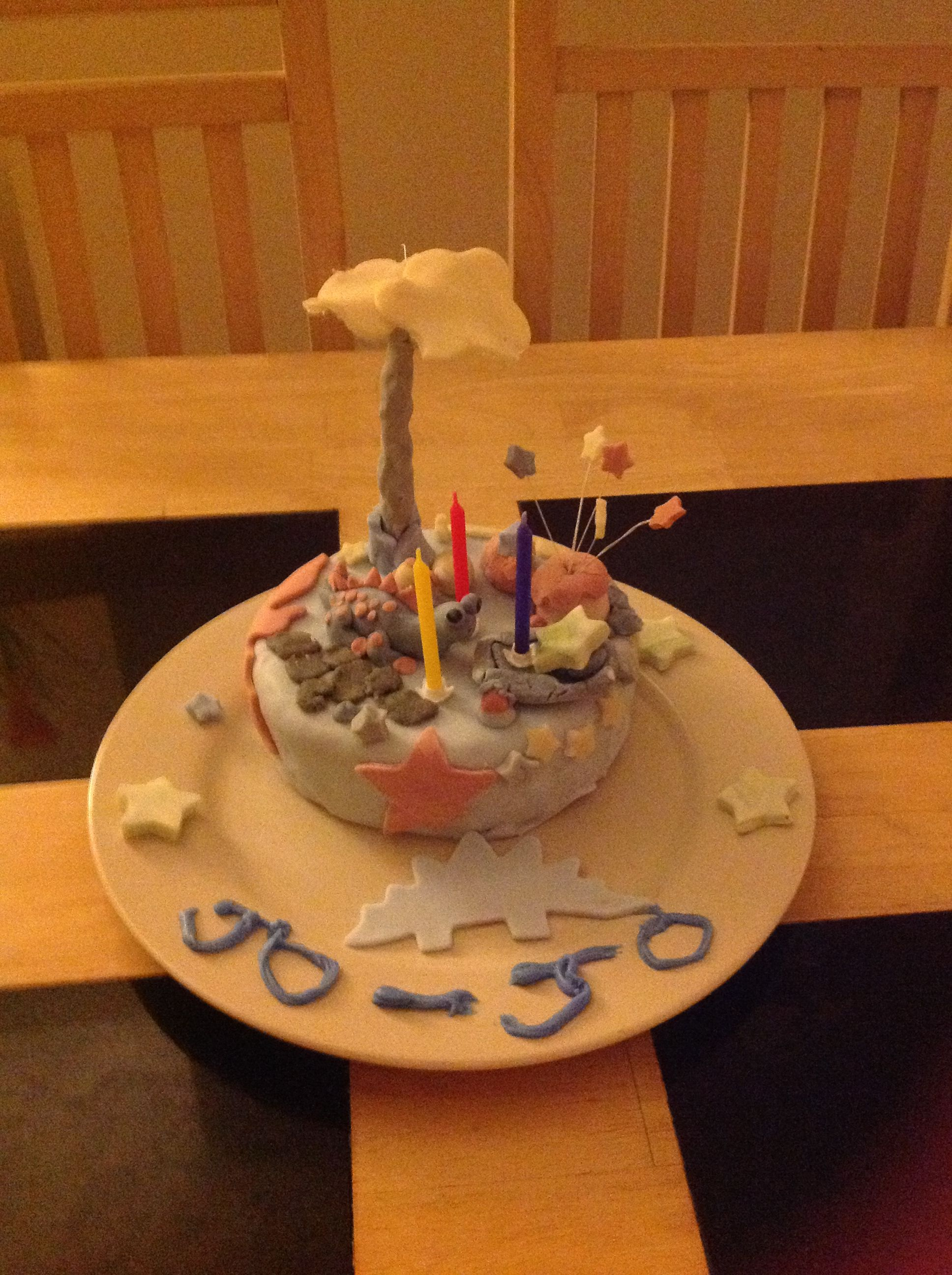 My son first handmade cake :) mummy so proud xxxx