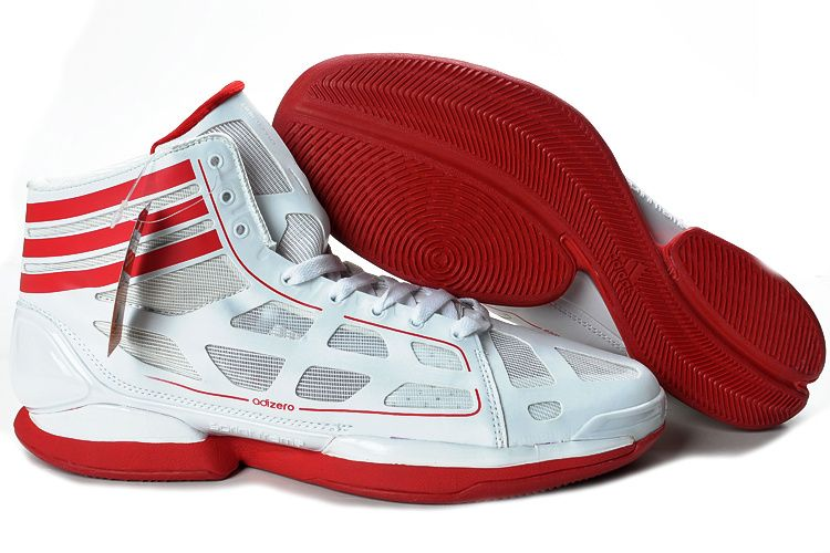 red and white adidas basketball shoes