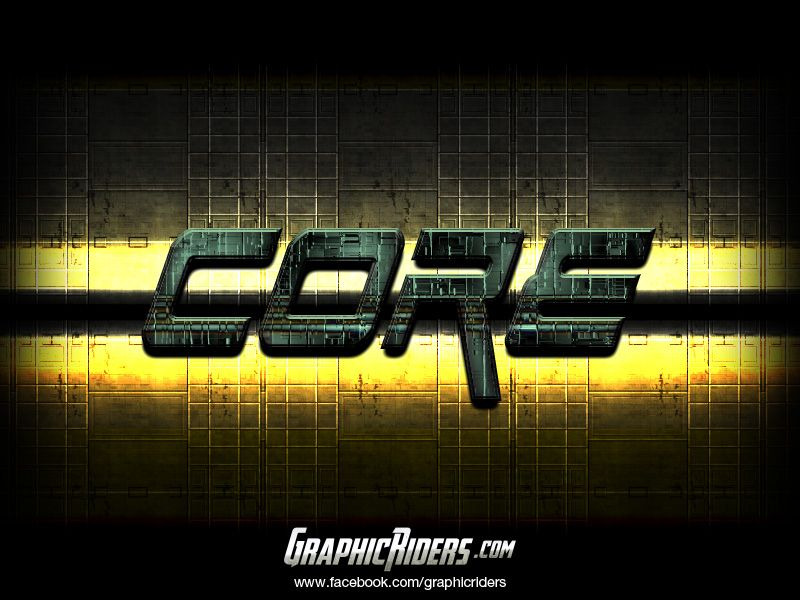 Scifi style – Core (free photoshop text effect, free psd file) #graphicriders