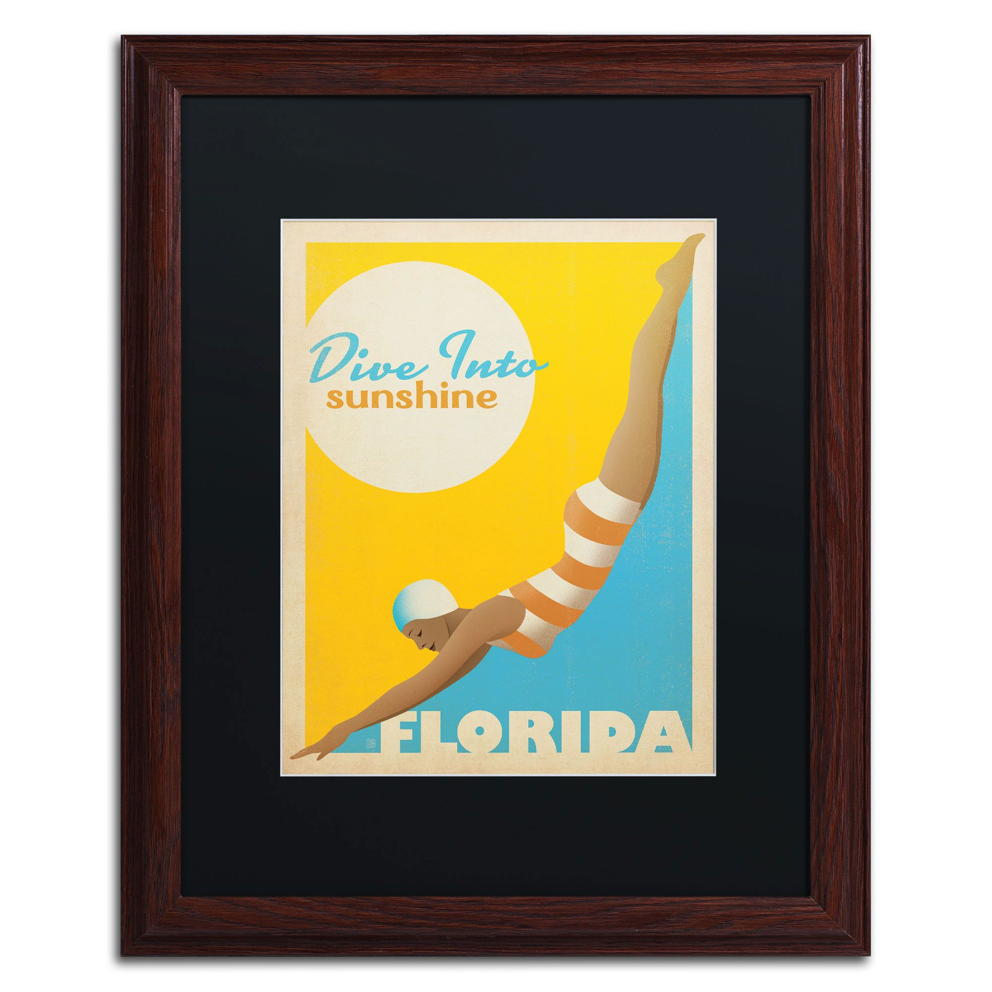 Dive into Sunshine II\' by Anderson Design Group Framed Vintage ...