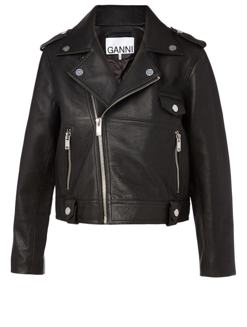 Ganni Leather Biker Jacket Holt Renfrew Leather Biker Jacket Biker Jacket Jackets [ 1059 x 800 Pixel ]