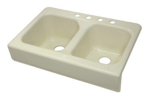 Lyons Industries Dks09ap 3 5 Designer Biscuit Apron Front Dual Bowl Acrylic 10 Inch Deep Kitchen Sink Double Bowl Kitchen Sink Sink Deep Sink Kitchen