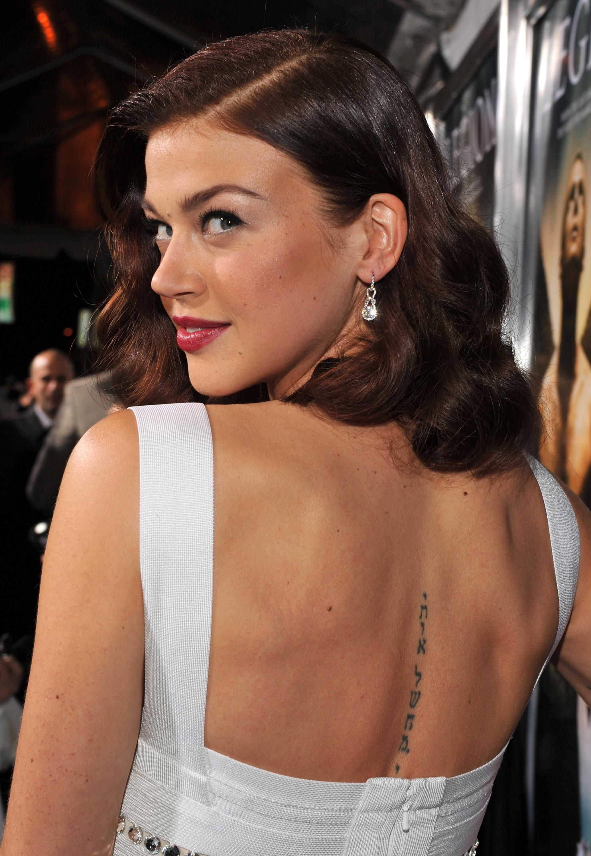 Adrianne Palicki back tattoo | My Favorite Crushes