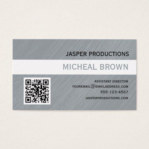 Grey qr code business card director pinterest qr codes grey qr code business card colourmoves