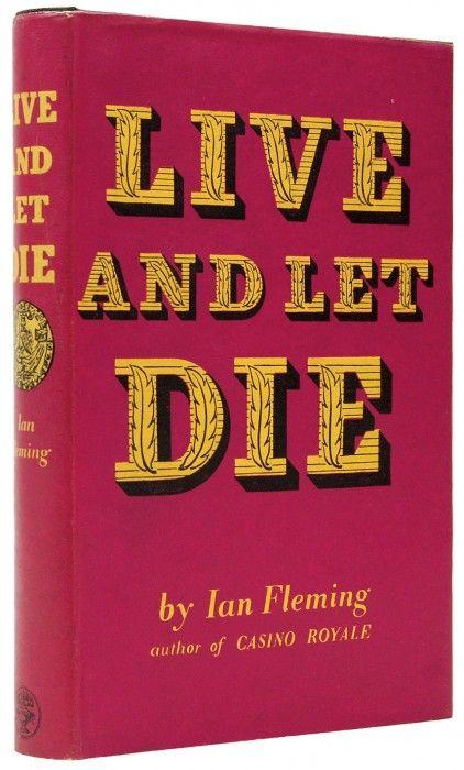 Resultado de imagem para live and let die cover book first edition