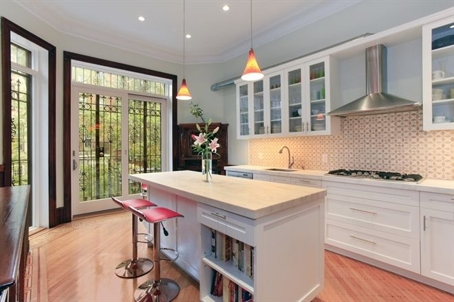 Front view my 39 dream 39 brownstone pinterest townhouse for Brownstone kitchen ideas