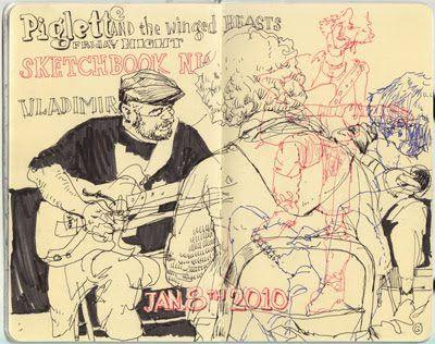 Graham Smith Illustration Blog: Sketchbook Jam - Piglette & the Winged Beasts
