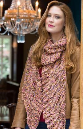Souffle Wrap Free Knitting Pattern from Red Heart Yarns