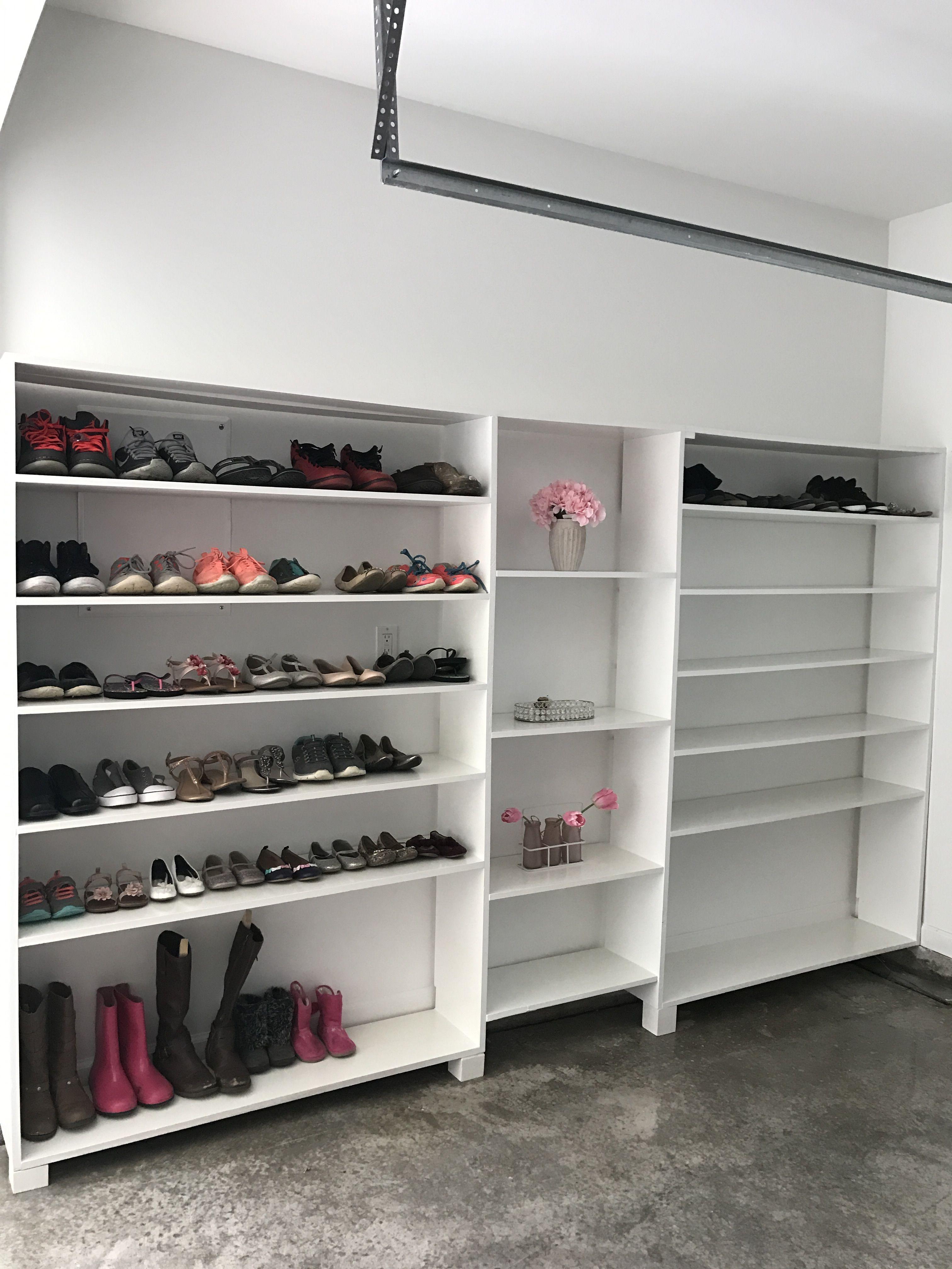 Shoe storage in garage org pinterest garage garage shoe