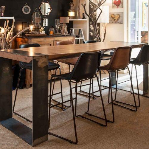 Une Selection Unique Des Plus Belles Tables Artisanales For Me Lab Table A Manger Haute Table Haute Bois Table Haute Cuisine
