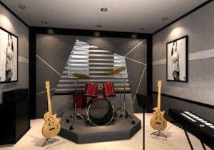 music room designs for small rooms   Scott Studio   Pinterest ... on small recording studio design, small space living, small room designs cool music, small music studio ideas,
