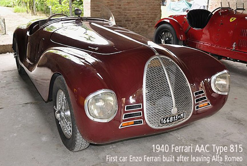 1940 Ferrari AAC Type 815. The first car Enzo Ferrari build after ...