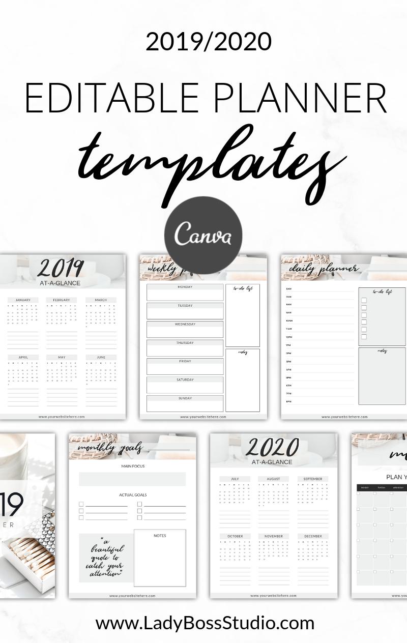 Nurtured Life Planner Templates Canva Planner Template