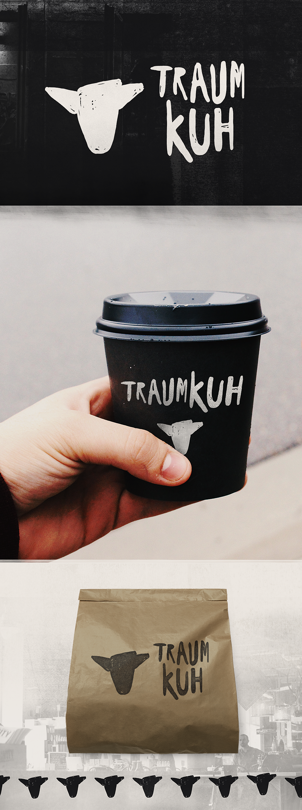 Logo Design By Nevergohungry For Traumkuh Coffee A Minimalist Icon