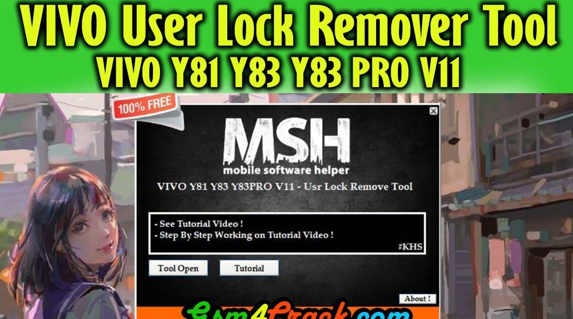 Download VIVO Y81 Y83 Y83 PRO V11 User Lock Remover Tool [100