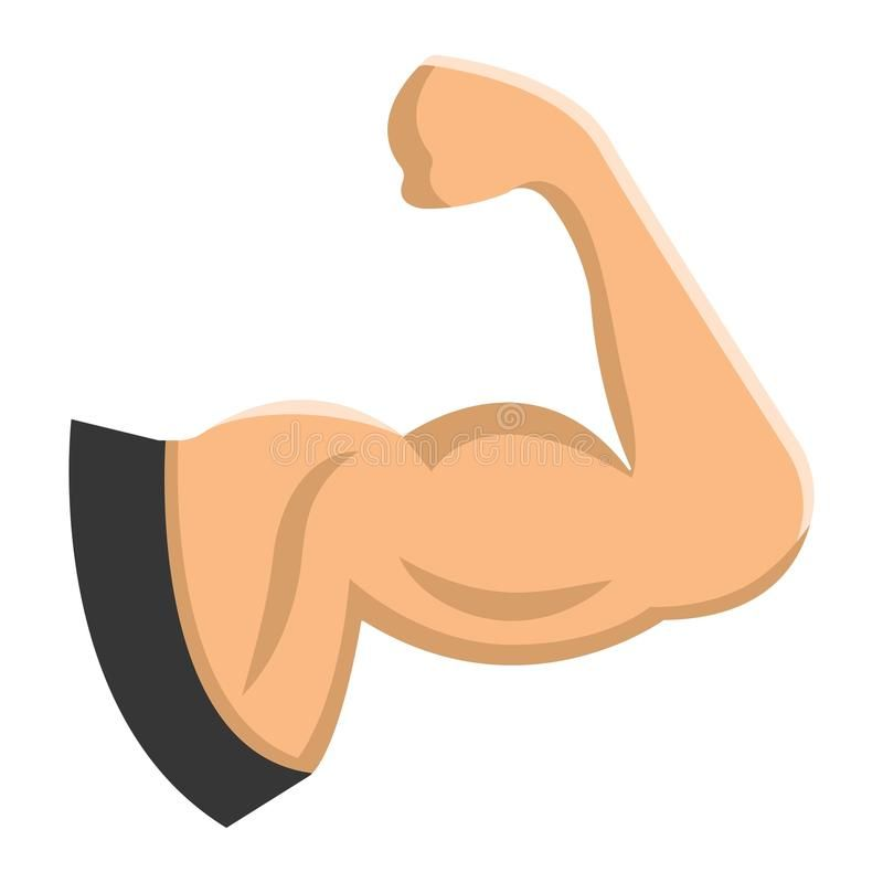 Arm Muscle flat icon, fitness and sport, biceps. Sign vector graphics, a colorfu , #Sponsored, #spor...