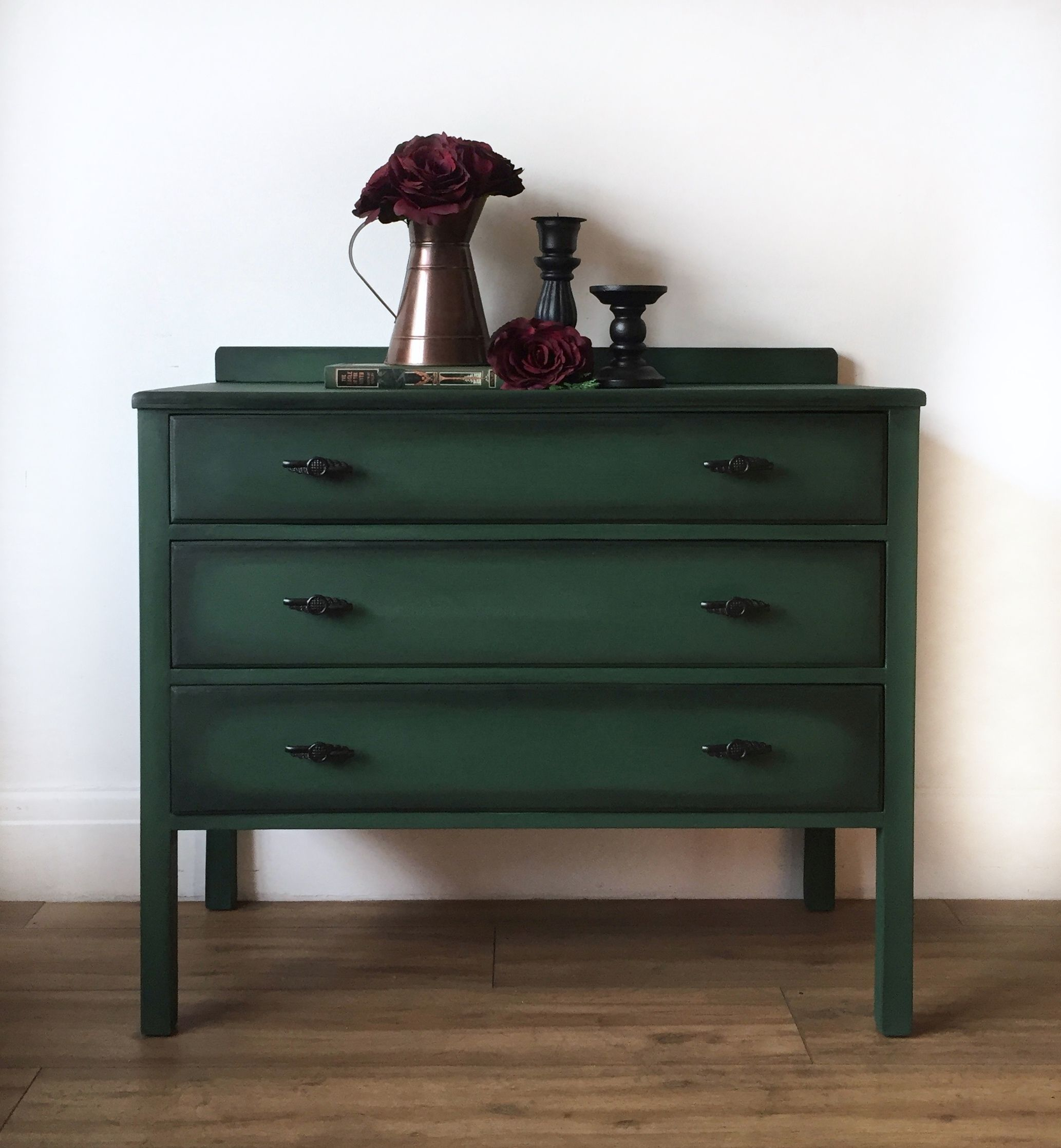 Dark Green Black Chest Of Drawers Chest Of Drawers Makeover Green Chest Of Drawers Green Furniture [ 2236 x 2066 Pixel ]