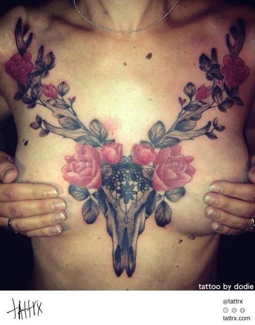 c4ee4c510 tattrx: Tattoo by Dodie - Deer Skull Chestpiece... | Ink and ...