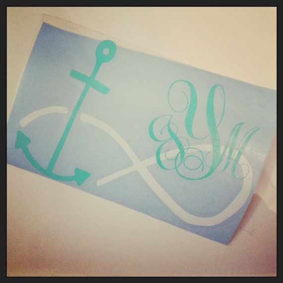 6 in Infinity Achor Decal by SimplyStacysStyle on Etsy, $12.00