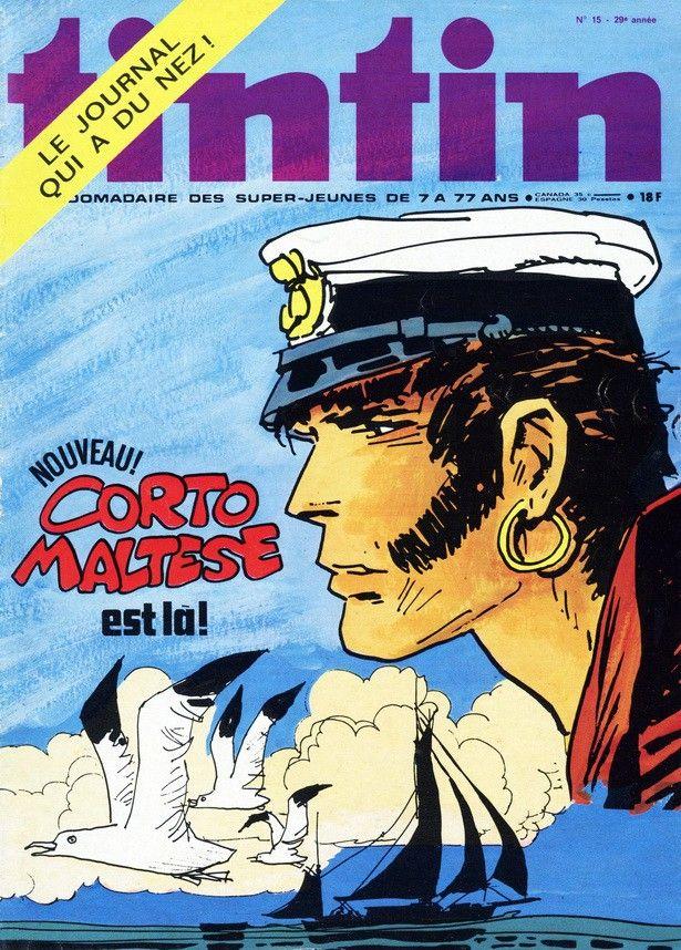 Le Journal de Tintin - Edition Belge - N°  1438 - 1974-15 - Mardi 9 Avril 1974 - Couverture : Hugo Pratt