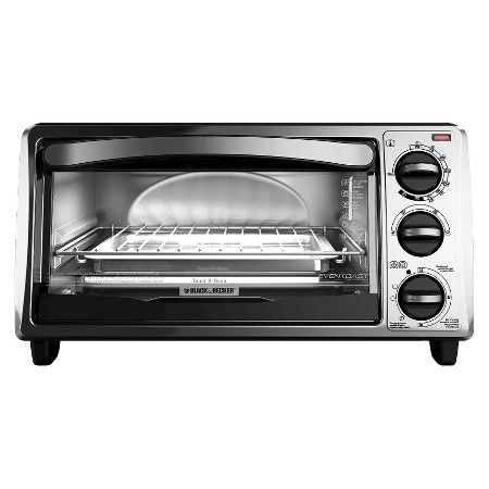 Black Decker 4 Slice Toaster Oven Target With Images Toaster