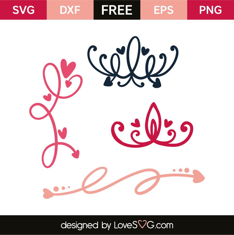 Download Flourish elements | Lovesvg.com | Cricut free, Cricut ...