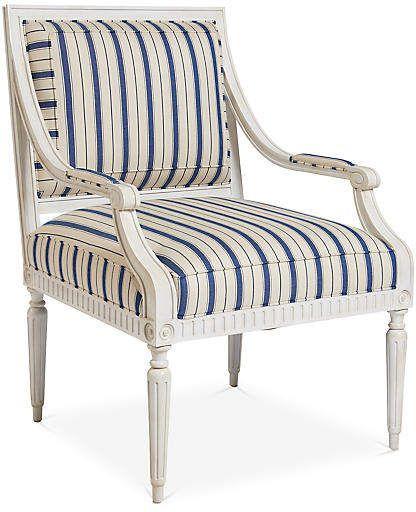 Best Presidio Armchair Blue Stripe Mark D Sikes 400 x 300