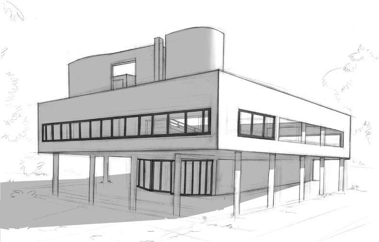 The #famous #concept of Le #Corbusier the u201c5 Points of #Modern - site de construction de maison virtuel gratuit