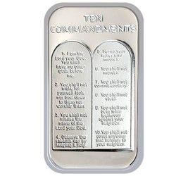 10 Commandments Silver Bar Silver Bars Custom Mints 10 Commandments