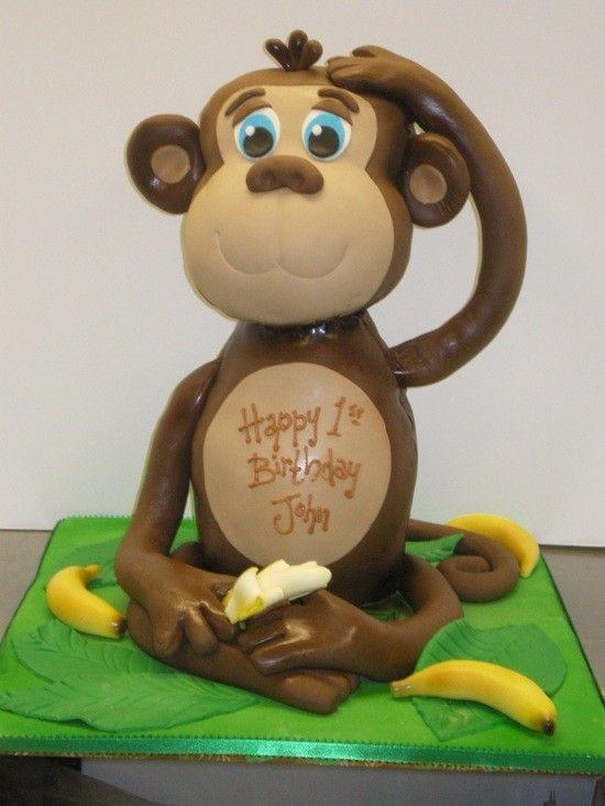Monkey Birthday Cake Design Monkey Birthday Cakes Pinterest