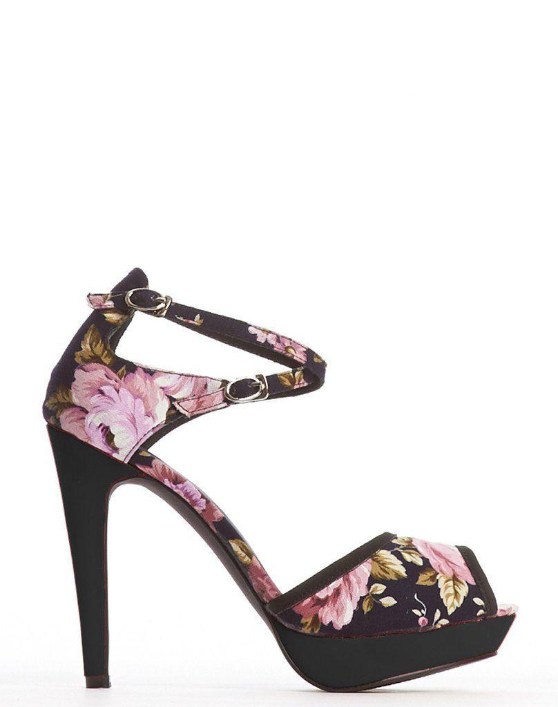 5be51030040 Dina Double Ankle Strap Vegan Platform - Floral
