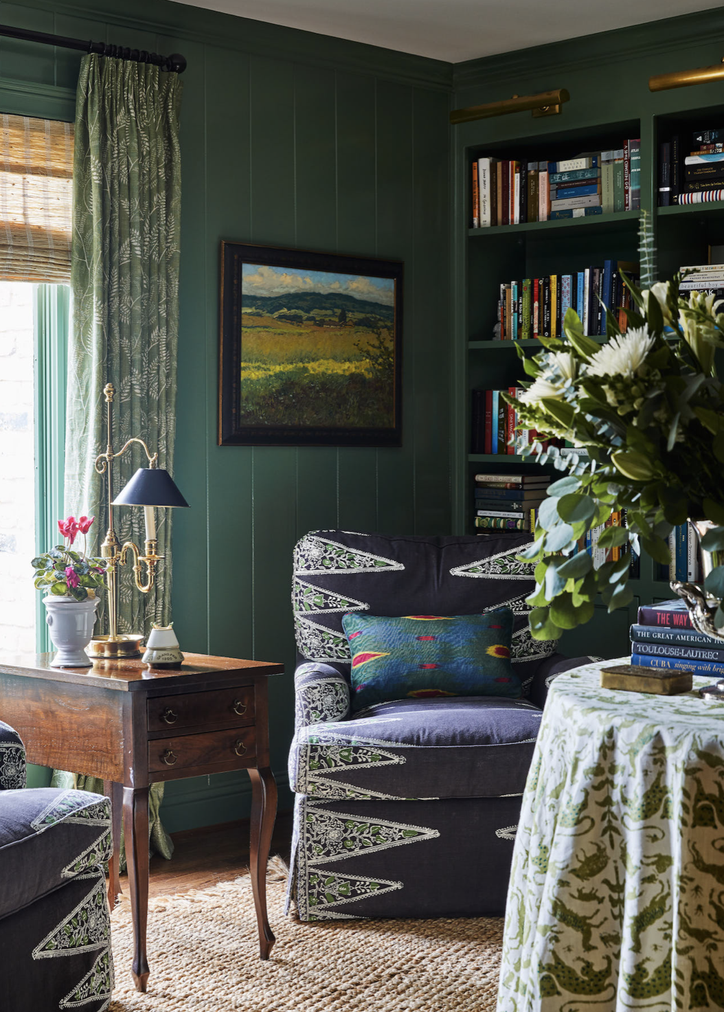 Details To Notice Cozy Living Room Layout Emily A Clark Dark Green Living Room Livingroom Layout Living Room Green