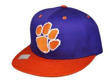 7ebe461b67218 CLEMSON UNIVERSITY TIGERS Snapback Hat - NCAA Cap - 2 Tone Purple Orange   Amazon