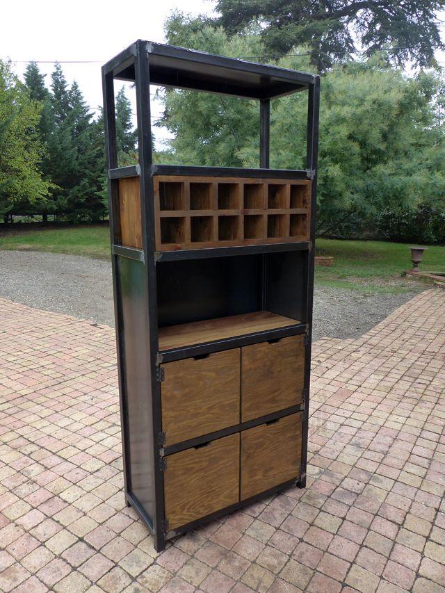 meuble industriel bar sur mesure et sur commande bois mètal Meuble