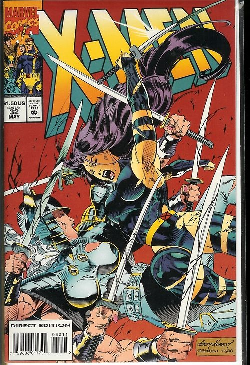 Psylocke featured on cover of X-Men 32 | Comic | Marvel