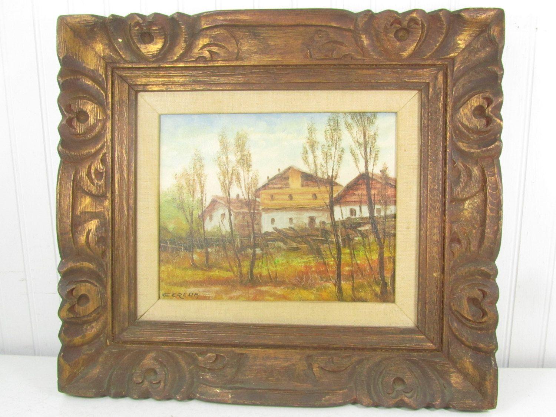 Cereda Mobili ~ Framed autumn landscape antonio cereda landscape giclee