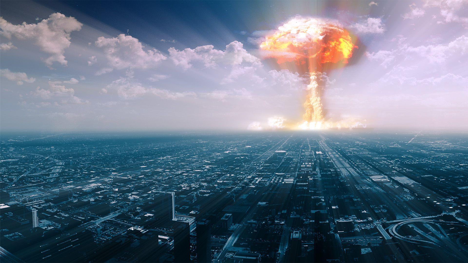 Nuclear Explosion Near The City Digital Art Hd Wallpaper 1920x1080 8368 Jpg 1920 1080 Nuclear War War Nuclear