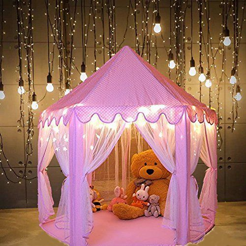 Quality NEW Kids Indoor Princess Castle Tent Pink Playhouse Girl Xmas DURABLE | Pink playhouse Princess castle and Tents & Quality NEW Kids Indoor Princess Castle Tent Pink Playhouse Girl ...