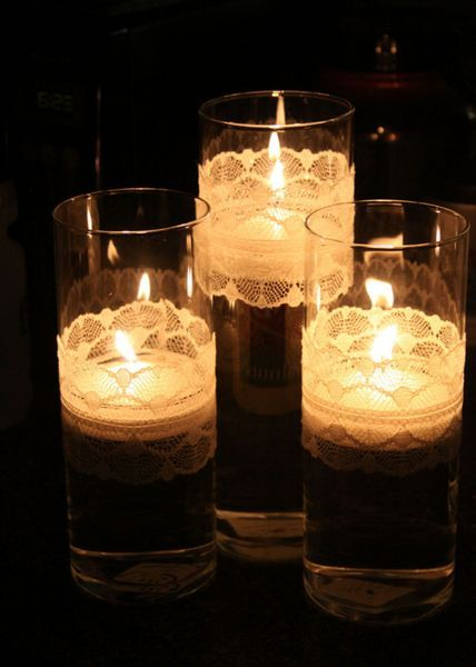 Pretty floating candles.