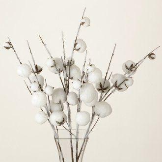 Tige De Fleur De Coton Enneigee Flocons Cottons Pinterest