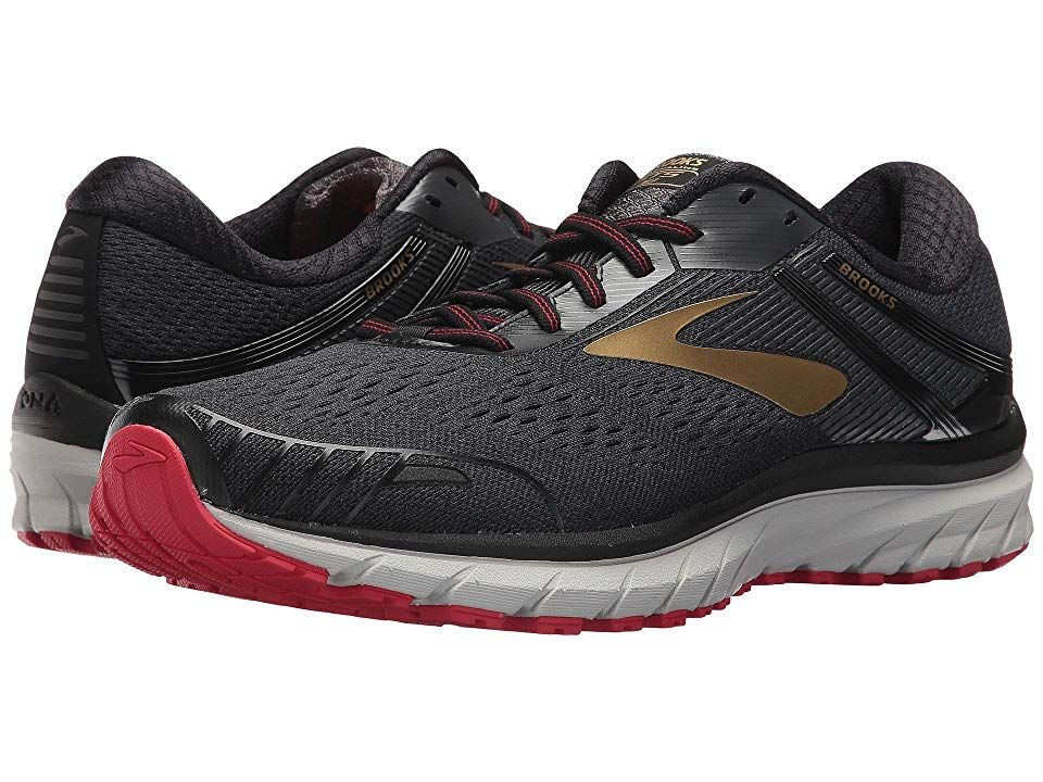 97ec407d8fc3 Brooks Adrenaline GTS 18 (Black Gold Red) Men s Running Shoes. With ...
