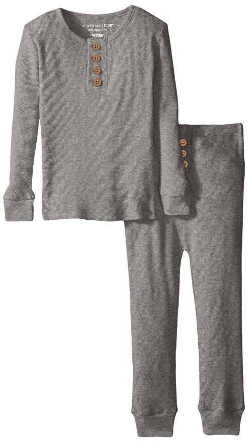 75cc84760 Burt s Bees Kid s Organic Henley Pajama Tee and Pant Set - 7 Years ...