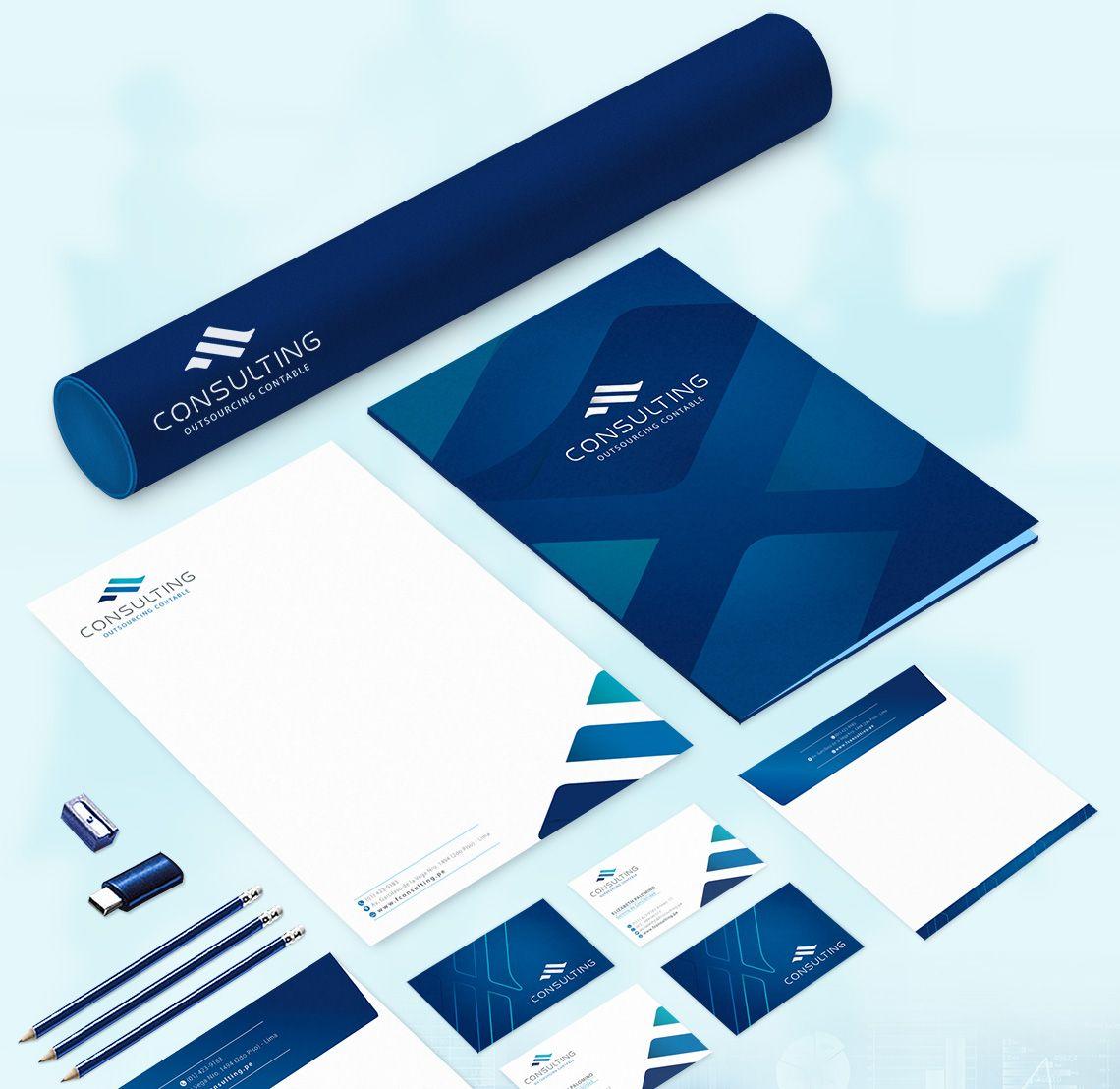 F consulting dise o de identidad corporativa 2 branding for Diseno imagen corporativa